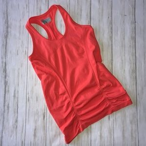 Athleta Orange Racerback Tank Top